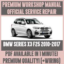 *WORKSHOP MANUAL SERVICE & REPAIR GUIDE for BMW X3 F25 2010-2017 +WIRING DIAGRAM