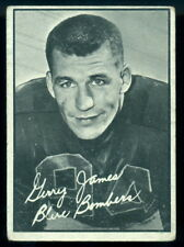 1961 TOPPS CFL FOOTBALL #123 Gerry James VG WINNIPEG BLUE BOMBERS Card