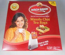 Wagh Bakri WAGHBAKRI Masala Chai 100 Tea Bags Net Wt: 200gm USA SELLER FAST SHIP