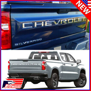 For 2019 - 2022 Chevrolet Silverado Chrome Tailgate Insert Letters 3D Raised
