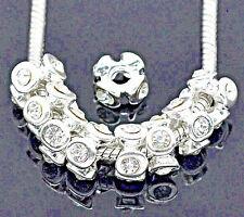 2 Stück European Beads Perlen Strass Zwischenperle Innen 4,2 mm *