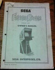 Sega ENDURO RACER Arcade Video Game Manual - good used original