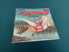 Walt Disney The Rescuers Book And Record Vinyl LP