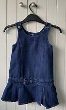 Girls denim pinafore dress. Gap Age 4.