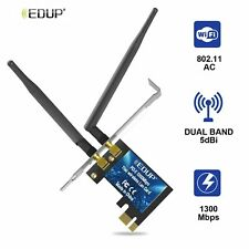 EDUP 1300Mbps Dual Band 2.4G/5GHz WiFi Card Wireless Adapter  with 5dBi Antennas