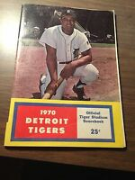 NEATLY SCORED 1970 YANKEES @ TIGERS  PROGRAM/SCORECARD- WILLIE HORTON COVER