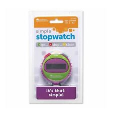 Learning Resources Simple Digital Stopwatch for Kids Teachers Classrooms (Green)