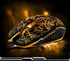 Pro Colorful LED Backlight Adjustable 4000DPI Optical Wired Gaming Mouse FOR PC