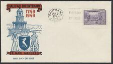 1949 #283 Halifax Bicentenary FDC, King Cachet, Halifax NS