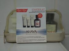 Ahava Stater Kit Face And Body Essentials 4 Pieces With Travel Pouch