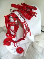 Exclusive Quality Red Driving harness for single horse cart- available 4 sizes
