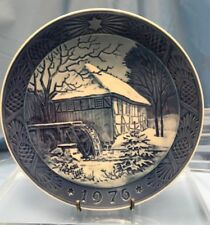 Royal Copenhagen Annual Christmas Plate 1976 Vibaer Water-Mill U16