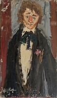 Dauchot Gabriel huile toile signée Pigalle Montmatre école de Paris misérabilism