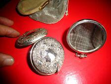 Lot de 2 : Petit Miroir de Sac De Dame ou Trousse Valise de Maquillage