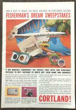 1959 Cortland Cam-O-Flage 333 Fishing Line Print Ad Fishermans Dream Sweepstakes