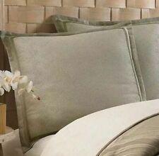 (1) Tommy Bahama Montauk Drifter European Pillow Sham Green Ivory Geometric