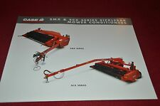 Case International SMX91 SCX100 Mower Conditioner Brochure YABE10