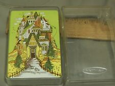 """Judy Hagstrom Illustrations """"Haunted House"""" [1 Deck] Playing Cards w/ Case Retro"""