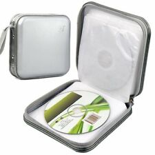 Storage Bag Hard Thin High Quality Holder Cover For 40 Disc CD and DVD - Silver