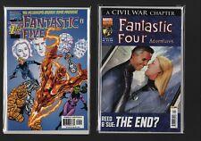 Marvel Comic Fantastic Four Adventures #49  + Fantastic Five #1  A4.586