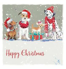 Christmas Dogs, Charity Xmas Cards, pack of 10 cards and envelopes.