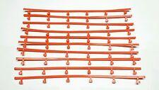 10 Aurora AFX Tomy AW Orange Guardrails In Great Condition Free S&H