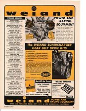 1960 WEIAND POWER & RACING EQUIPMENT ~ ORIGINAL PRINT AD