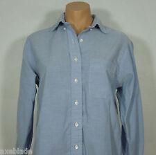 LAND'S END Women's Blue Button Down Shirt Petites size P6