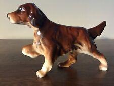 Beautiful Vintage 5� Ceramic Pointing Irish Setter Hunting Dog Figurine