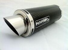 Hawk-Kawasaki Z750 2004-2006 de fibra de carbono Stubby Gp Carrera Escape, silenciador