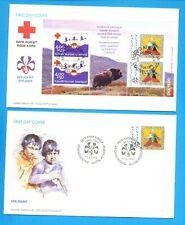 GREENLAND -  Scott B17-B18a - Boy Scouts & Red Cross FDCs - 1993