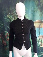 Hearts and Roses military steampunk jacket with corset back size XS