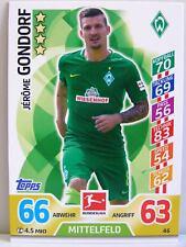 Match Attax 2017/18 Bundesliga - #046 Jerome Gondorf - SV Werder Bremen