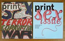 2 PRINT Magazine Sex Issues 2004 Jan/Feb + Jul/Aug Graphic Design Advertising VG