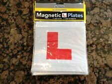 magnetic l plates learner driver car motorbike test new quality accessories