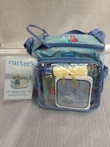 Carter's Starters 6 Pc. Sightseer Diaper Bag W/ Carter's Bottle Never Used