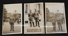 3 alte Portrait Fotos deutsche Soldaten in BRÜSSEL / BELGIEN Juli 1940