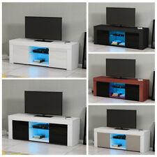 Modern TV Unit Cabinet Stand Sideboard Matt body and High Gloss Doors LED Lights