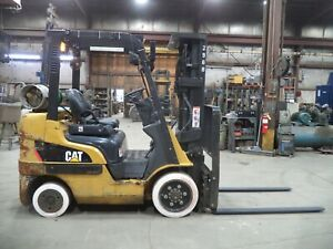 2016 Caterpillar 2C5000, 5,000#, 5000# Cushion Tired Forklift w/3 Stage & SS/FP