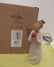 """Willow Tree ~""""You're The Best""""~ Angel with Apple~ Demdaco~Susan Lordi~2010 w/Box"""
