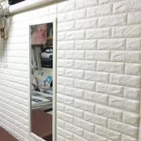 PE Foam Self-adhesive Wall Stickers Wall Decor Decals 3D Bricks Wallpapers 20pcs