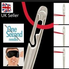 12 SELF THREADING SEWING NEEDLES - ASSORTED SIZES - EASY THREAD - UK Seller