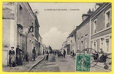 cpa RARE 72 - SAINT COSME en VAIRAIS (Sarthe) Grande Rue du Village Animée