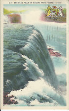 S-16 AMERICAN FALLS OF NIAGARA FROM PROSPECT POINT POSTCARD 1948 OR 1949
