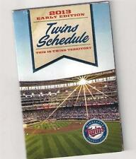 Minnesota Twins 2013 Early Edition Schedule