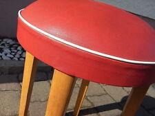 Vintage Hocker Rockabilly 50er 60er Jahre Mid Century Stuhl Bauhaus Stool °