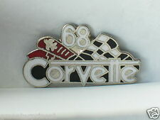 1968 Corvette Pin , Lapel Pin, Hat Tack , (**)