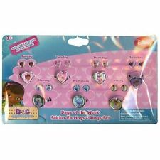 Doc Mcstuffin Day of the Week Pretend Play Ring & Earing SET - Licensed Product