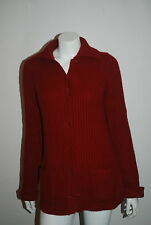 TSE 36 BURGANDY KNIT CASHMERE CARDIGAN SWEATER SZ XS