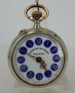 Schöne offene Herrentaschenuhr System Roskopf Patent um 1900 (64884)